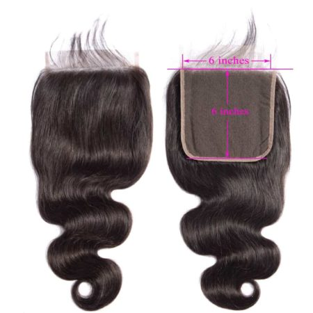 Brazilian Body Wave 6x6 Lace Closure Pre Plucked With Baby Hair Natural Hairline (5)