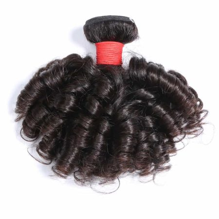 Brazilian Bouncy Curly Pre-colored Raw Virgin Human Hair Bundles Natural Dark Brown Or Black Color (5)