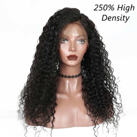 Brazilian Curly Pre Plucked Full Lace Human Hair Wigs For Natural Color 250% Density (6)