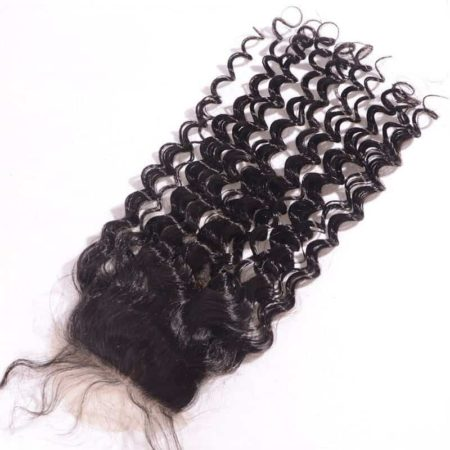 Brazilian Curly Silk Base Closure 4x4 Virgin Hair With Baby Hair Bleacked Knots (2)