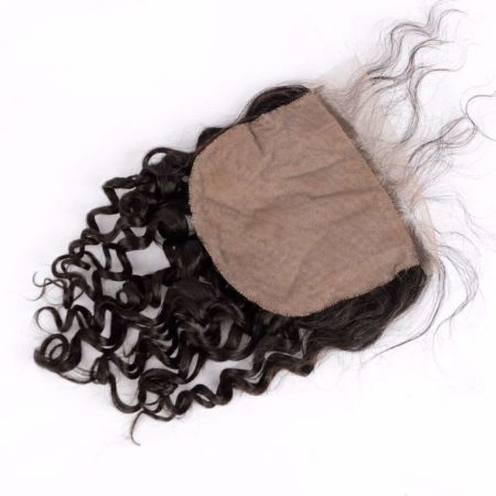 Brazilian Deep Curly 5x5 Silk Base Lace Closure With Baby Hair Bleached Knots (1)