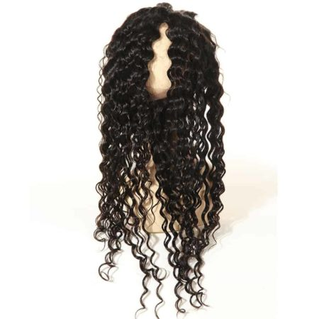 Brazilian Deep Wave 360 Lace Frontal Closure Hair Natural Colour Free Part (1)