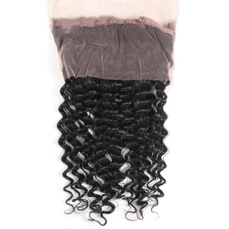 Brazilian Deep Wave 360 Lace Frontal Closure Hair Natural Colour Free Part (3)