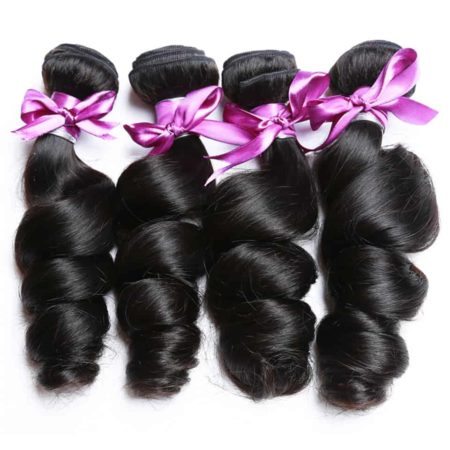 Brazilian Human Loose Wave Bundles Natural Black Hair Weave Extensions (1)