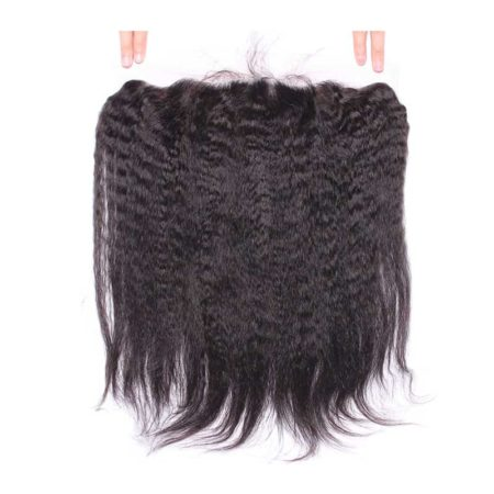 Brazilian Kinky Straight Silk Base Lace 13x4 Frontal Closure (1)