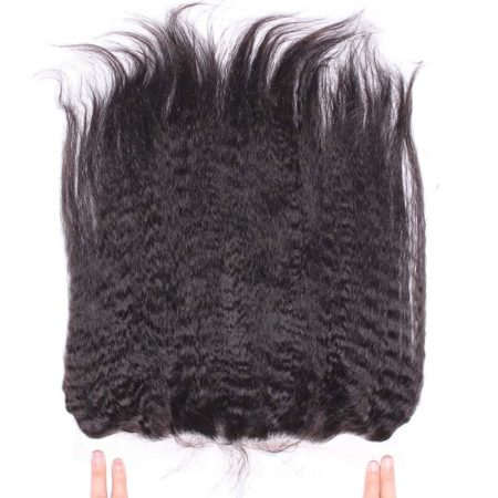 Brazilian Kinky Straight Silk Base Lace 13x4 Frontal Closure (2)