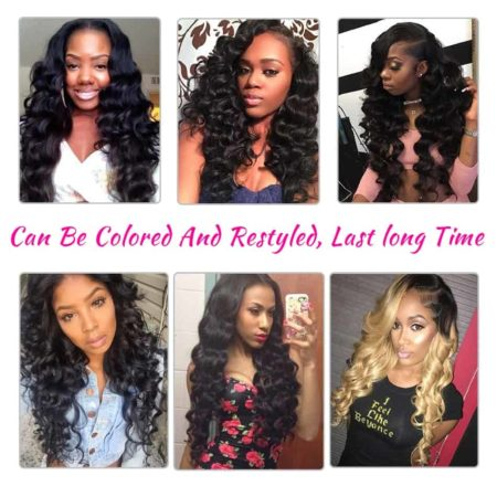 Brazilian Loose Wave 3 Bundles Hair Weave With Closure (1)