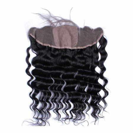 Brazilian Loose Wave Silk Base 13x4 Lace Frontal Closure For Women Natural (1)