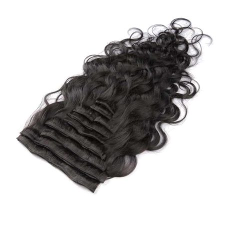 Brazilian Virgin Body Wave Clip In 100% Human Hair Extensions (3)