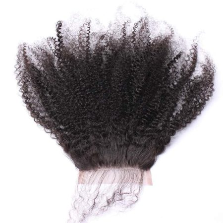 Cheap Peruvian Silk Base Closure Kinky Curly With Baby Hair Hidden Knots (2)