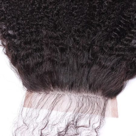 Cheap Peruvian Silk Base Closure Kinky Curly With Baby Hair Hidden Knots (3)