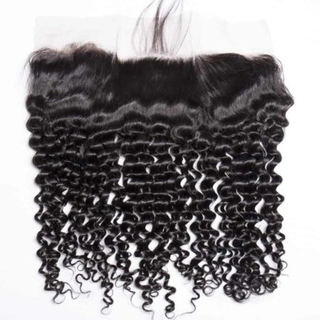 Deep Wave Human Lace Frontal Weave Closure Natural Hair Line Pre Plucked With Baby Hair (1)