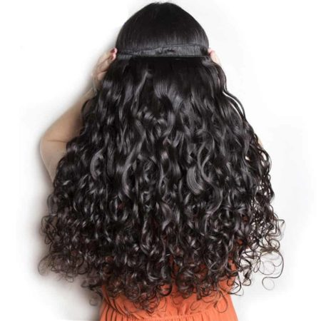 Fresh Wet And Wavy Brazilian Remy Hair Extensions Weave Bundles Natural Black 1 Or 3 Or 4 PCS Can Be Dyed And Bleached (2)