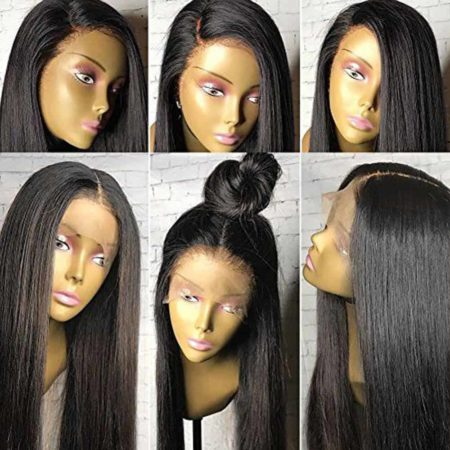 Full Lace Malaysian Human Hair Wigs Silky Straight Glueless With Baby Hair (4)