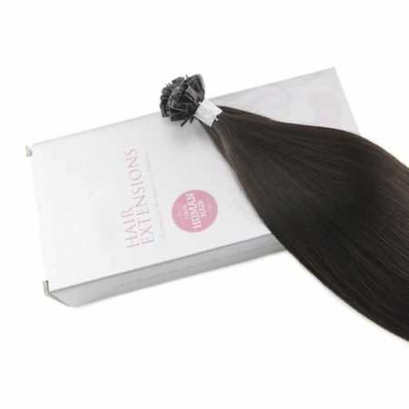 Fusion #1B Straight Keration Flat Tip Hair 1.0g per s 50g per pack (6)