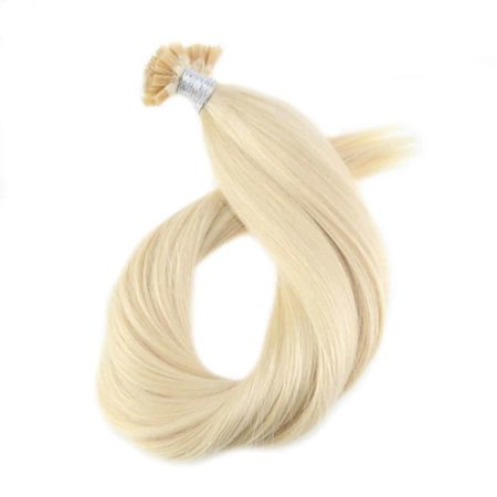 Fusion Keration Blonde #613 Straight Flat Tip 100% Human Hair Extensions 1.0g per s 50g per pack (1)