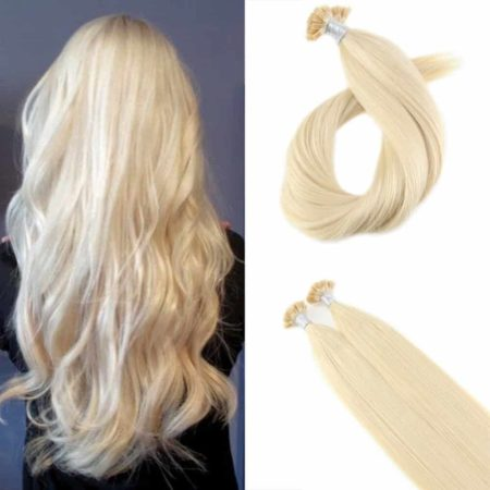 Fusion Keration Blonde #613 Straight Flat Tip 100% Human Hair Extensions 1.0g per s 50g per pack (5)