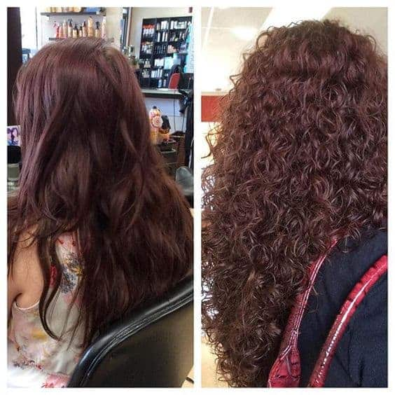 Hair perm before and after
