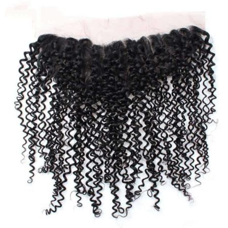 Human Hair Indian Curly 13x4 Ear To Ear Frontal Closure With Baby Hair Natural Colour (4)