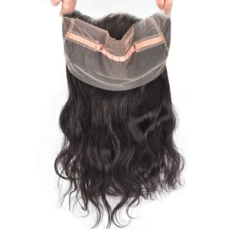 Indian Body Wave 360 Lace Frontal Closure Pre Plucked With Baby Hair Natural Color (3)