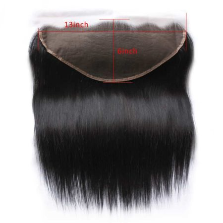 Indian Human Straight 13X6 Ear To Ear Lace Frontal with Baby Hair Natural Colour (4)