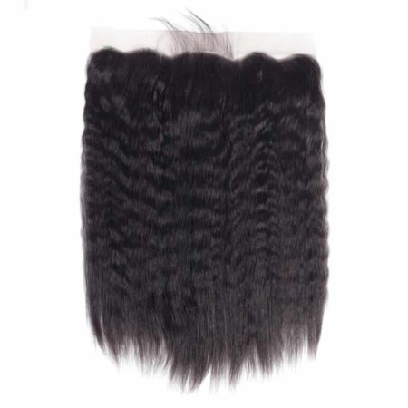 Indian Kinky Straight 13X4 Ear to Ear Free Part Lace Frontal Closure (4)
