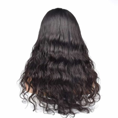 Indian Remy Full Lace Wigs With Baby Hair Natural Wave Glueless Preplucked Front Hairline (3)