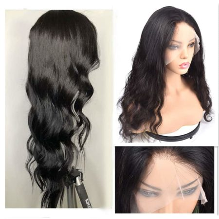 Indian Remy Full Lace Wigs With Baby Hair Natural Wave Glueless Preplucked Front Hairline (6)