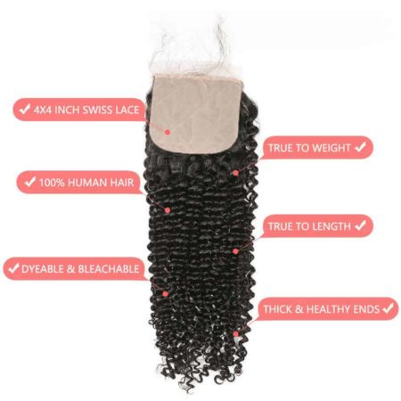 Indian Silk Base Closure Kinky Curly 4x4 With Baby Human (3)
