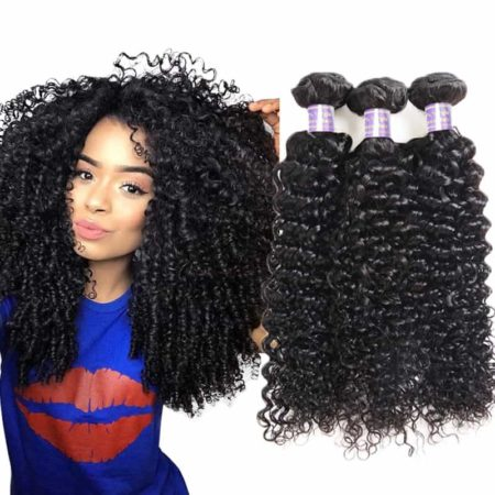 Kinky Curly Human Weave Filipino Hair Bundles Natural Color (2)