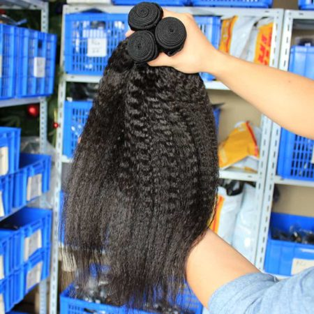 Kinky Straight Brazilian Virgin Human Hair Weave Bundles (2)