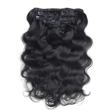 Malaysian Clip In Human Body Wave Hair Extensions Clip 7 Pcs 115g Full Head (1)