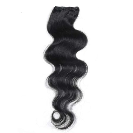 Malaysian Clip In Human Body Wave Hair Extensions Clip 7 Pcs 115g Full Head (3)