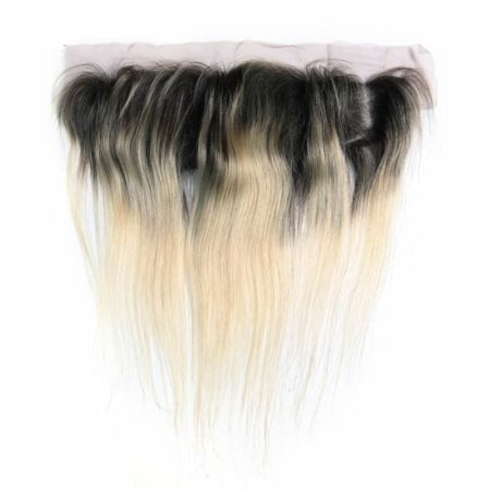 Malaysian Human Straight Blonde Color 1B 613 Lace Frontal Hair (5)