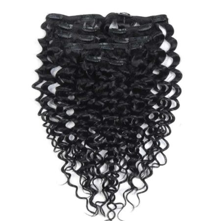 Malaysian Kinky Curly Clip In Human Hair Extensions 7 Pcs 10-24 Inch (3)