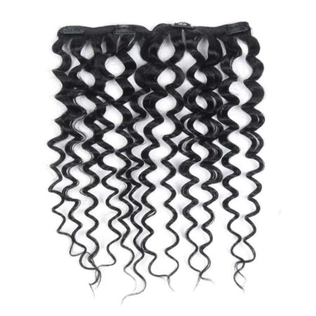 Malaysian Kinky Curly Clip In Human Hair Extensions 7 Pcs 10-24 Inch (5)