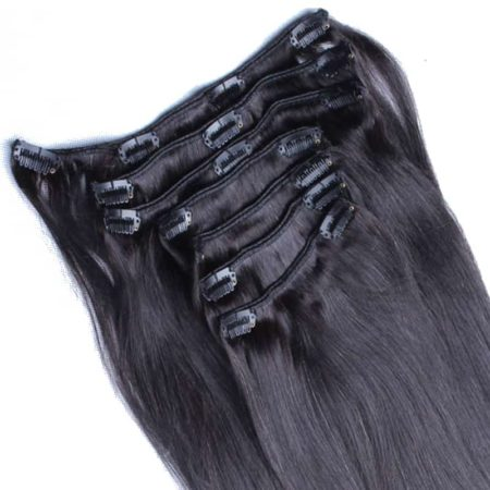 Malaysian Straight Hair Clip In Human Extensions 7 Pcs (3)