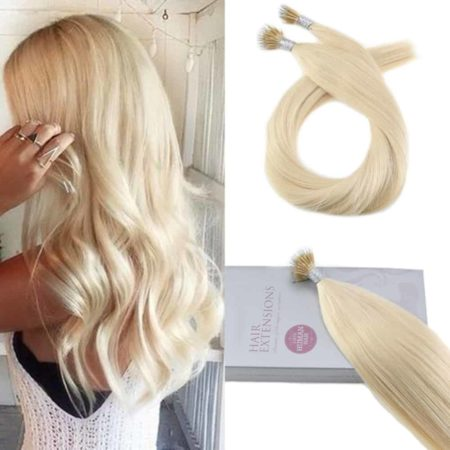 Micro Nano Ring Bleach Blonde Color #613 Remy Human Pre-bonded Hair Extension (2)