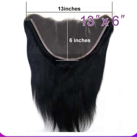 Peruvian 13x6 Straight Lace Frontal Closure Pre Plucked With Baby Hair (5)