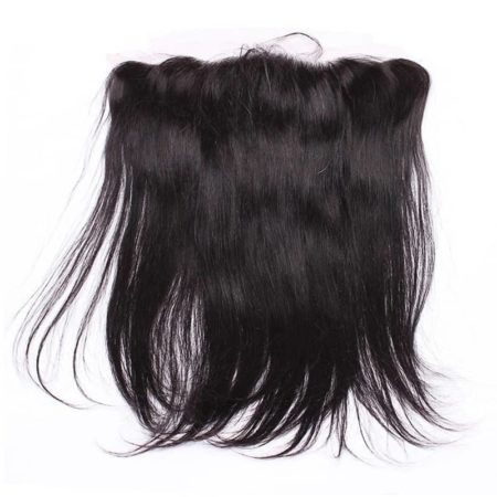 Peruvian Silk base 13x4 frontal Straight Remy Hair Pre Plucked With Baby Hair Bleached Knots (1)