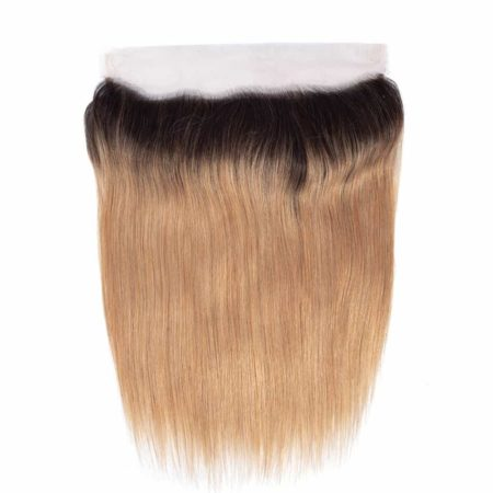 Peruvian Straight Ombre 1B 27 Two Tone Honey Blonde Frontal Closure (6)