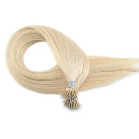 Pre Bonded Nano Ring Loop Human Remy Hair Extension #1B (4)