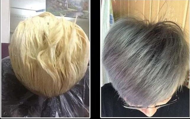 Remove Hair Dye before and after