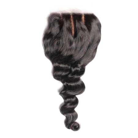 Silk Closure Sew In Malaysian Loose Wave 4x4 Free Part Hair (1)