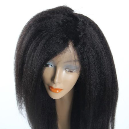 Brazilian Lace Front Human Hair Wigs Kinky Straight For Black Women (6)