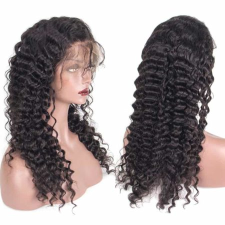 Brazilian Lace Front Human Hair Wigs With Baby Hair Deep Wave 13x4 Wig With Baby Hair (4)