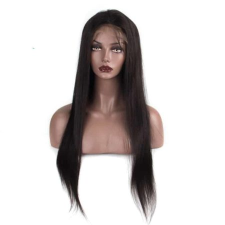 Brazilian Straight 130% Density Lace Front Human Hair Wigs With Baby Hair Bleached Knots (4)