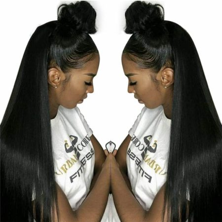 Brazilian Straight Pre Plucked Lace Front Human Hair Wigs With Baby Hair Bleached Knots (1)
