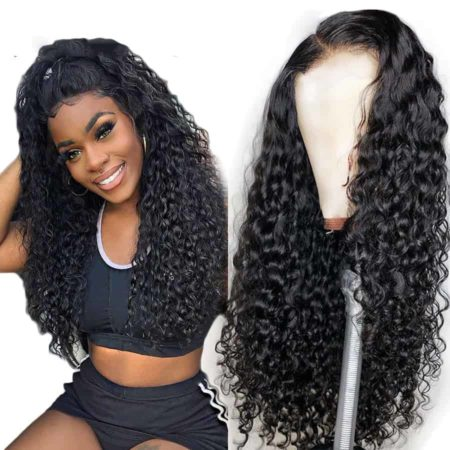 Cheap Human Indian Wet And Wavy Hair Lace Front Wigs For Black Women (2)