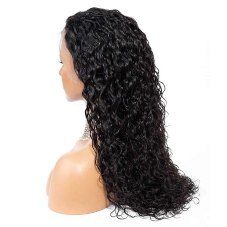 Cheap Human Indian Wet And Wavy Hair Lace Front Wigs For Black Women (4)